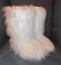 OscarSport Yeti After Ski Faux Fur White Boots Made in Italy EU size 38 EUC