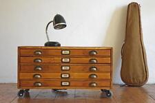 Schubladenschrank klein rollbar Lowboard Sideboard Loft Vintage Holz Alt Antik