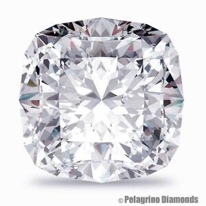 3.25 CT E-I1 Excellent Pol. Cushion Cut AGI Natural Diamond 9.36x8.16x5.16mm