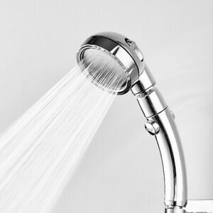 New Shower Head High Pressure 3 Setting with ON/OFF Pause Switch Adjustable BG