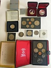 Lot of Canadian Coins: 1940-1999, 19 Coins, Including Commemorative Dollars