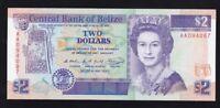BELIZE ----- 2  DOLLARS  1990 ----- UNC ------