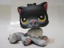 Littlest Pet Shop Black & White Persian Cat 435 Authentic Blemished As Shown