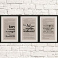 Twilight Quote Anniversary Gift Book Page Artwork Framed Décor Bookshelf