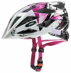 Uvex Unisex Jugend, air wing Fahrradhelm (52-57 cm white-pink)