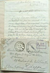 FRANCE 1945 COVER & LETTER WITH FRENCH AIR FORCE CACHET & POSTE AUX ARMEES PMK