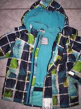 """Winter-Jacke von """"Topolino"""" blau-grün-gemustert Gr.98/104"""