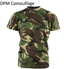 KIDS ARMY T-SHIRT BOYS CLOTHING COSTUME DRESS UP FANCY DRESS DESERT CAMOFLAUGE