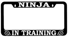 Black METAL License Plate Frame Ninja In Training Auto Accessory Naruto