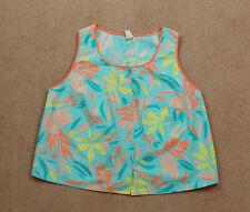 Finnish Vintage L-Kolttu Women's 1960/70s Pastel Tropical Cotton Print Vest Top