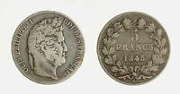 s1544_51)  FRANCIA  LUIGI FILIPPO I - 5 FRANCHI 1845 A
