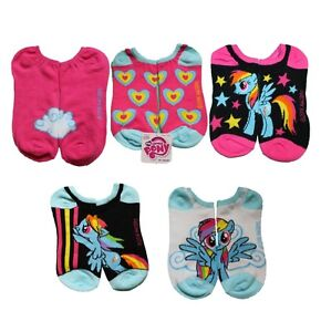 My Little Pony 5pk Adult Teen Ladies No Show Socks Rainbow Dash 9-11 MLP Pegasus