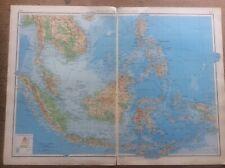 1942 Vintage John Bartholomew Atlas Map 20� Malay Archipelago