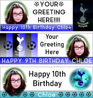 Tottenham F.C Birthday Banner Add Photo,Name Age 3 Designs 6ftx2ft PVC/Vinyl