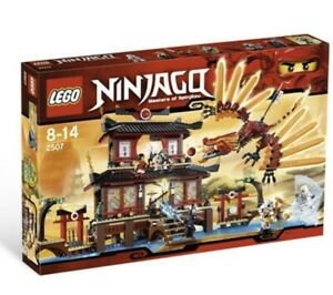 Lego Ninjago 2507 Fire Temple Retired Set Complete Instructions + 7 Minifigures