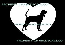 Vrs Heart Love Dog Black And Tan Coonhound Puppy Rescue Car Decal Vinyl Sticker