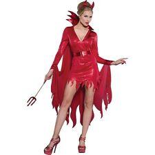 RED WOMEN SEXY HOT DEVIL DEMON DRESS HORNS HEADPIECE/PITCHFORK/COSTUME MEDIUM M