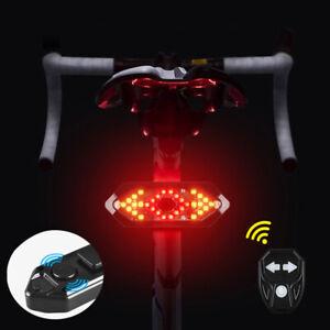 Bicycle Turn Signal Taillight Bike Wireless Remote Rear Lights LED Indicator USB