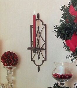 40974 Southern Living Wall Mount CORDOVA Candle Sconce NEW-In-Box