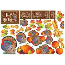 Colors of Autumn Thanksgiving Assorted Printed Cutouts Mega Value Pack Party Déc