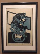 """Japanese Stencil Yoshitoshi Mori Print """"Aizome"""""""
