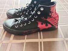 Converse All Stars Dc Comics Limited Edition Batman BlackRed Shoes Rare Size 9.5