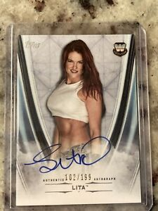 2020 Topps WWE Undisputed Lita On Card Auto 102/199 MINT!!! SP