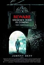SWEENEY TODD - 2008 - Original D/S 27x40 Movie Poster - JOHNNY DEPP - walk style