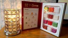 Christmas Aroma Lamp Wax Warmer Gift Black Crystal & Christmas Wax Melt Gift Set