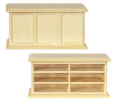 Miniature Dollhouse Unfinished Store Display Case 1:12 Scale New