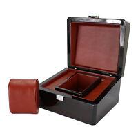 Watch Winder Box, Watch Box Single Slot Travel Jewelry Storage Case Organizer
