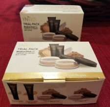 INIKA ORGANIC Mineral FOUNDATION/Face POWDER Trial Pack SAMPLE Sets- Medium/Dark