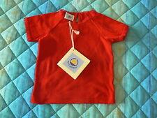 NUOVO Petit Bateau maglietta t-shirt bimba 12 mesi rossa