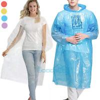 10/20X Unisex Raincoats Disposable Adult Emergency Rain Coat Poncho Hiking Coat