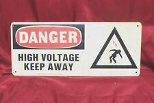 "Safety Signage Reads ""Danger High Voltage Keep Away"" 17"" x 7"" Signage"