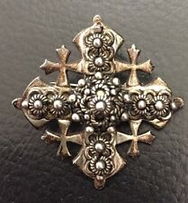 antiker echt Silber Anhänger in Kreuz Form - punziert