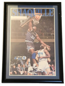 Vintage Shaq Shaquille O'Neal Rookie Autographed Signed 93 Orlando Magic Poster