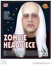 Zombie Wig With White Hair Halloween Wizard Warlock Fancy Dress