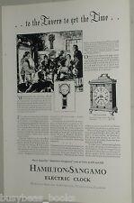 1929 Hamilton-Sangamo advertisement, for Electric Clocks