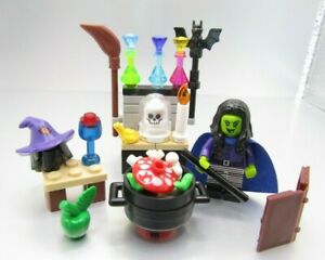 Lego NEW Halloween WITCH MINIFIG Crystal Ball  Cauldron Broom Spell Book lot set