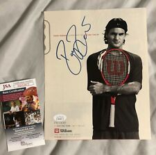 Roger Federer signed 8x10 photo w Proof JSA COA Greatest of All Time