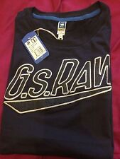 Men G Star Raw T-shirt s small navy black blue fitted gym Authentic Genuine xmas