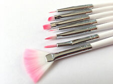 7pcs FINE FLAT POINTED ARTIST CAKE BRUSH PAINT PAINTING DUSTING SUGARCRAFT TOOL