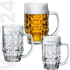 6 Bierseidel Biergläser Bierkrug Bierkrüge Bierglas Bier Henkel Glas Gläser