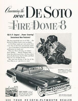 1952 DeSoto Firedome 8 2-page - Classic Vintage Car Advertisement Ad J41