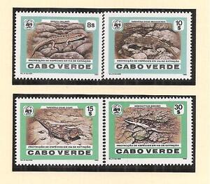 (70771) Cape Verde Lizards MNH U/M Mint 1988