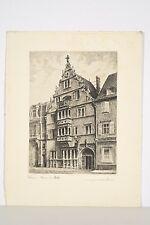 Gravure XX° Léopold ROBIN, COLMAR, maison des têtes, architecture