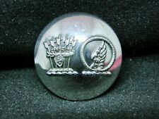 Troyte-Chafyn Dual Crest w Hoop Snake/Wing 26mm S/P Livery Button Firmin 1884-94
