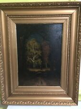 """Narcisse Diaz """"Young Girl In The Forest"""" Original Signed & Framed Oil On Panel."""