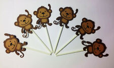 Cupcake Toppers Set of  10 Monkeys w/Lollypop Stick Party Decorations